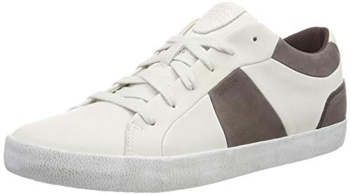 Geox Herren U Smart B Sneaker Weiß (White/Coffee C0231)