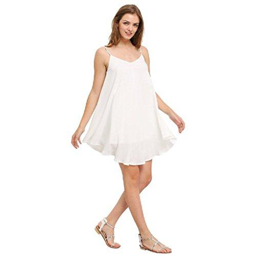 jinyouju Damen Cocktail Kleid Weiß 2xIA5IQi