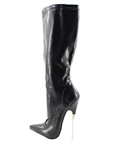 WONDERHEEL APPR.7 Metal Stiletto Heel Pointed Toe matt Leather Knee high Boots