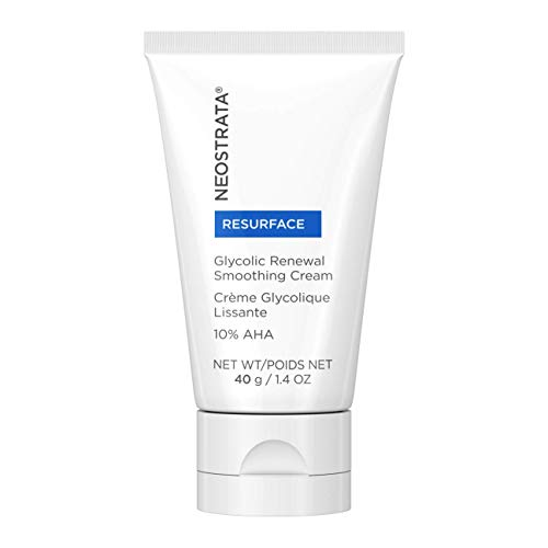 NEOSTRATA RESURFACE Glycolic Acid Renewal Smoothing Face Moisturizer & Neck Cream - 10% Alpha Hydroxy Acid (AHA), Shea Butter, Citric Acid, Glycerin; Anti-Aging, Anti-Wrinkle; Normal/Oily Skin; 1.4 oz