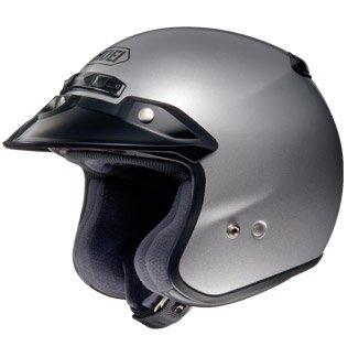 Shoei RJ Platinum-R 3/4 Helmet (Medium) (Light Silver)