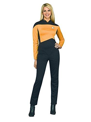 Secret Wishes Star Trek The Next Generation Woman's Deluxe Gold Jumpsuit, Adult -