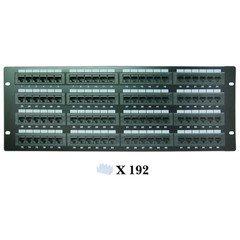 PcConnectTM 96 Port CAT6 Patch Panel, 110 Type, 568A & 568B Compatible