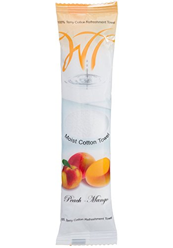 - Moist Cotton Towel - Peach-Mango (Case of 50) by White Towel
