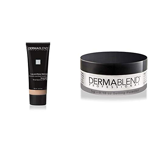 Dermablend Leg and Body Makeup Foundation with SPF 25, 10N Fair Ivory, 3.4 Fl. Oz. + Free Gift with Purchase ()