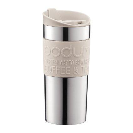 Bodum Vacuum Travel Mug, Small, Stainless Steel - Off White - 0.35 L, 12 Oz by Bodum ()