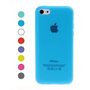 Solid Color Design TPU Soft GEL Back Case Cover for iPhone 5C --- COLOR:White