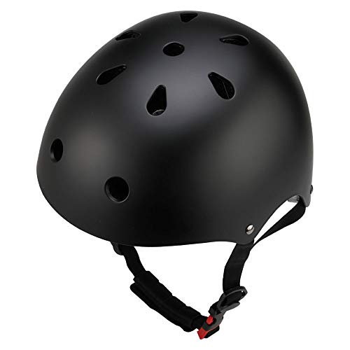 Dostar Kids Bike Helmet - Adjustable from Toddler to Kids Size, Durable Kids Cycling Multi-Sport Safety Bicycle Skating Scooter Helmet for 3 to 8 Years Old Girls/Boys (Black (50-54 cm)) ()