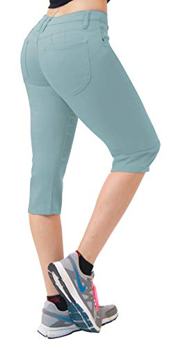 Super Comfy Stretch Bermuda Shorts Q43308X Powder BLU 18