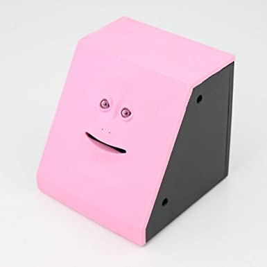 Bbqbuy Face Bank - Coin Eating Savings Bank (Pink): Amazon co uk