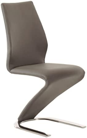 Casabianca Furniture BOULEVARD Gray Eco-leather Dining Chair