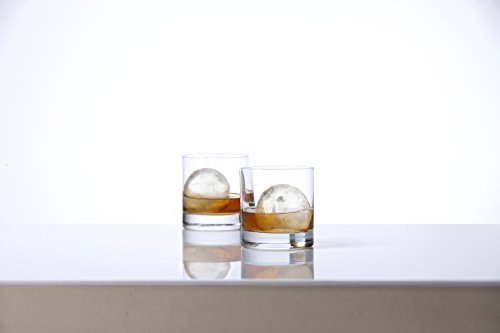 Schott-Zwiesel-Ultimate-Whiskey-with-2-Double-Old-Fashioned-BarCocktail-Glasses-Paired-with-2-Large-Sphere-Ice-Molds-Clear