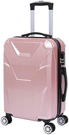 BXDYA 荷物、ABSトラベルバッグ、スピナーホイールと軽量トロリースーツケースに拡張可能なキャリー (Color : D)