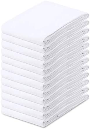 Flour Sack, White, 24x25, PK12, 100% Cotton Hand Towels, Highly Absorbent Dish Towels, Flour Sack Kitchen Towels, Cleaning Rags, Dish Towels for Drying Dishes, Multipurpose Kitchen Towel & Dish Towel
