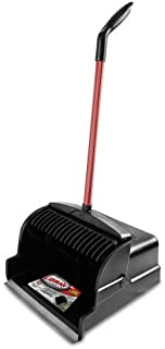 """product image for Libman Commercial - 1168 Large Scoop Dust Pan, 16"""" Wide, Steel Handle, Red & Black (Pack of 2)"""