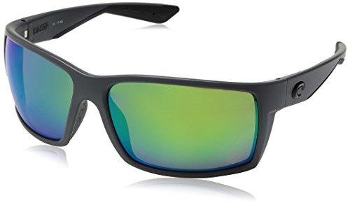 Signature Rectangular Sunglasses - Costa Del Mar RFT98OGMP Reefton Sunglass, Matte Gray Green Mirror