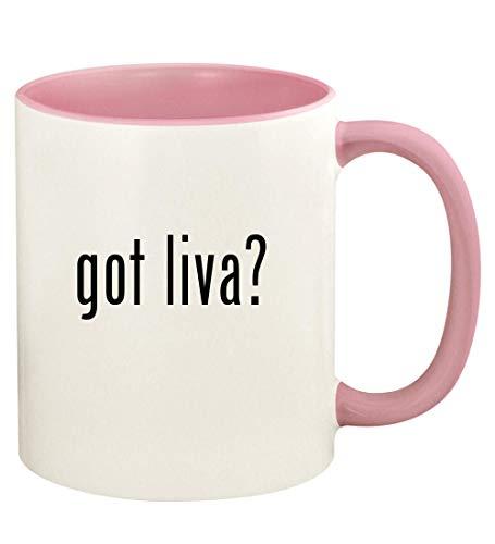 - got liva? - 11oz Ceramic Colored Handle and Inside Coffee Mug Cup, Pink