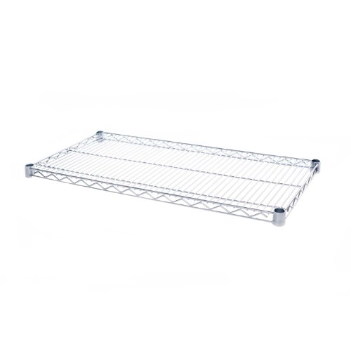 Seville Classics UltraDurable Commercial-Grade Steel Wire Shelf, 36'' x 18'', UltraZinc, NSF-Certified by Seville Classics