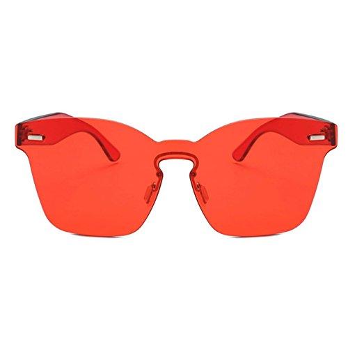 Image HCFKJ Chic Rondes Rouge Uv Les De Mode Femmes AcéTate Soleil Nuances Unisexe Lunettes PZ4qg