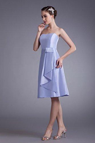 Abendkleid GEORGE traegerlosen Kurz Einfache Satin BRIDE Brautjungfer Kleid Flieder xxz4r0wq