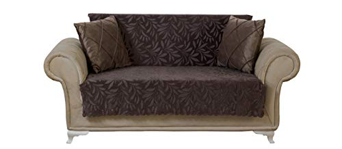 Chiara Rose Couch Covers for Dogs Sofa Cushion Slipcover 3 Seater Furniture Protectors Futon Cover, Loveseat, Acacia Brown (Chair Chiara)