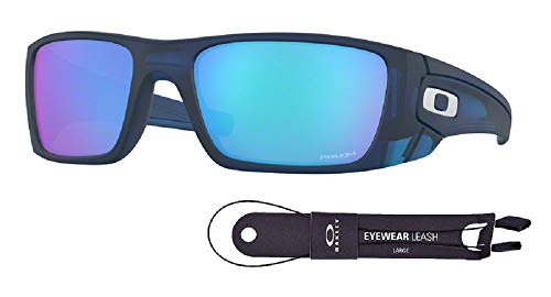 Oakley Fuel Cell OO9096 9096K1 60M Matte Translucent Blue/Prizm Sapphire Sunglasses For Men+BUNDLE with Oakley Accessory Leash ()