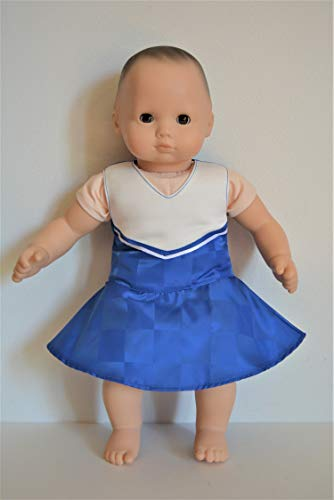- Handmade Doll Clothes Cheerleader Outfit Blue Dress fit 15
