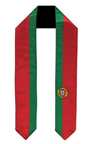 Portugal Flag Graduation Sash/Stole International Study Abroad Adult Unisex ()
