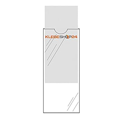Lomo de archivadores bolsillos autoadhesivos |, transparente, 20 o 100 unidades, tamaño a