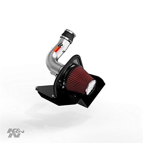 K&N Cold Air Intake Kit with Washable Air Filter:  2011-2014 Ford Edge, 3.5/3.7L V6, Polished Metal Finish with Red Oiled Filter, 77-2583KS (Intake Air Edge Ford)