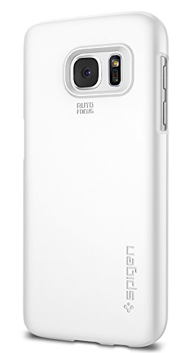 Spigen Thin Fit Galaxy S7 Case with Premium Matte Finish Coating for Samsung Galaxy S7 2016 - Shimmery White