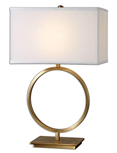 (Uttermost 26559-1 Duara Circle Table Lamp, White )