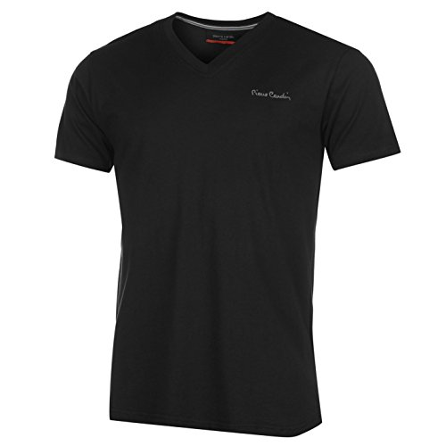 Pierre Cardin V Neck T-Shirt Herren schwarz Top Tee Shirt