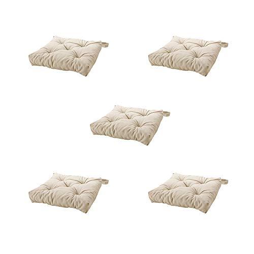 IKEA Malinda Chair Cushion, Light Beige(Pack of 5)