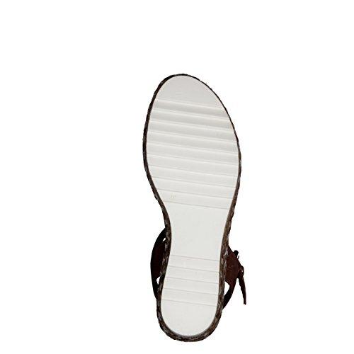 Tamaris cognac Tamaris Keil 305 Damen 28370 sandale 1 braun Damen qHd8q