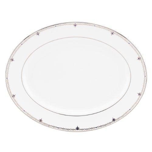 Lenox Jewel Oval Platter, - Platinum Plate Crown Dinner