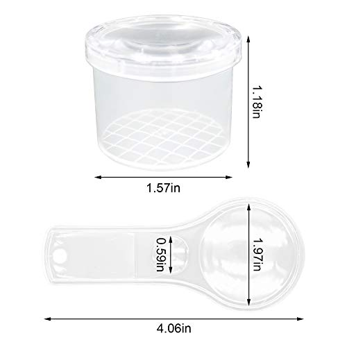 S-Mechanic 10 Pieces Bug Viewer Critter Insect Cage Magnifying Insect Box, 10 Pieces 10X Handheld Plastic Magnifier for Home, Classroom, Kids Science Nature Exploration Toys (H01)
