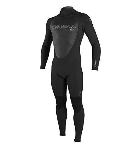 O'Neill Men's Epic 3/2mm Back Zip Full Wetsuit, Black/Black/Black, Medium
