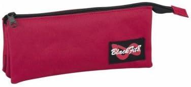 Blackfit8-Estuche portatodo Triple Color Burgundy (SAFTA 841634744): Amazon.es: Juguetes y juegos
