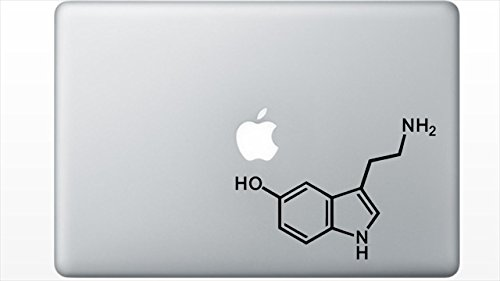 Serotonin Molecule Structure decal sticker by Buttered Kat - Sticker Molecule