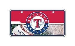(MLB Texas Rangers Metal Auto Tag)
