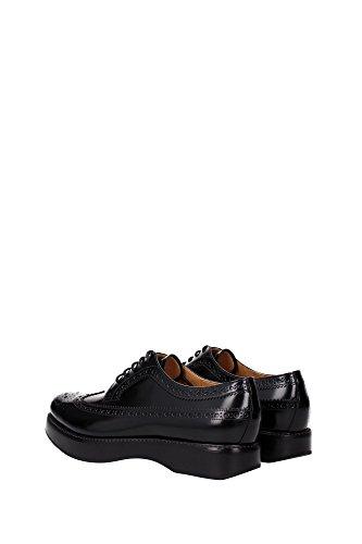 DEZ004BLACK Negro de cordones Church's Mujer EU Zapatos qUvR6