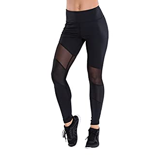 TLF Apparel Women's Workout Margoux Legging Pants, Black, Large