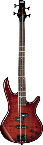 Ibanez GSR200SM 4-String Electric Bass Guitar, GSR4 Maple Neck, Rosewood Fretboard, Charcoal Brown Burst