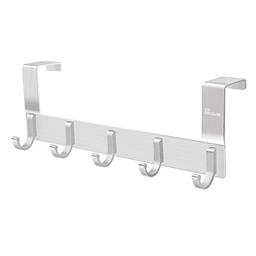 Over The Door Hook Organizer Rack, Anjuer Metal Coat Hanger Door 5 Hooks - Free Returns Gap