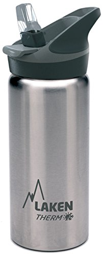 Laken Jannu Vacuum Insulated Stainless Steel Water Bottle with Straw Cap and, Plain/Silver, 17 (Plain Handle Baby Cup)