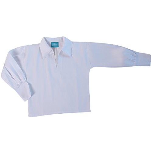 Making Believe Boys Basic Renaissance Shirt, White (Boys Small 6/8, White) ()