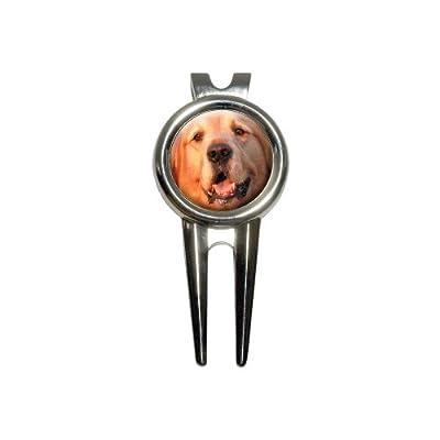 Golden Retriever Dog Golf Divot Repair Tool and Ball Marker