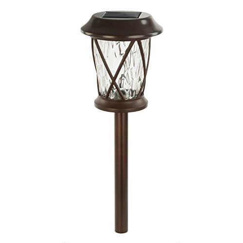 Paradise by Sterno Home Solar LED Bronze Path Light Kit, 4-Pack