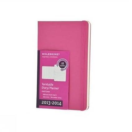 Moleskine 4083547 - Agenda (18 Meses, Una Semana Por Página, 14 X 9 Cm, Girable), Color Rosa - agenda 2013-2014 pocket semanal magenta
